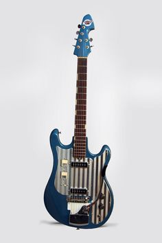 Teisco WG-2L Model Solid Body Electric Guitar, c. 1965, made in Tokyo, Japan, Lake Placid Blue lacquer finish, hardwood body and neck, rosewood fingerboard