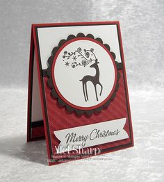 I love this card of Mel's made with some retired stamps & dsp - Dasher, Four the Holidays, & Letters to Santa dsp. Christmas Cards 2018, Xmas Cards, Holiday Cards, Chrismas Cards, Card Making Inspiration, Making Ideas, Christmas Paper Crafts, Christmas Diy, Merry Christmas