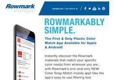 Jak nejlépe vybrat materiál pro značení? Použijte Color Snap Match ve vašem telefonu! - http://www.mega-blog.cz/materialy/jak-nejlepe-vybrat-material-pro-znaceni-pouzijte-color-snap-match-ve-vasem-telefonu/ Firma Rowmark přišla se zajímavou aplikací, kterou si zdarma během pár vteřin můžete stáhnout do vašeho telefonu. Jmenuje se Color Snap Match. Stačí do vyhledavačevGoogle playči App Storezadat slovo Rowmark nebo Color Snap Match a aplikace se v