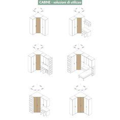 Emily cabine dielle camerette armadio pinterest la for Planimetrie dell armadio