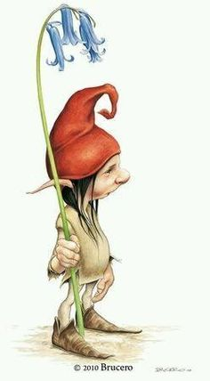 Creatures of small stature wield sceptres/staffs of flowers? Magical Creatures, Fantasy Creatures, Fantasy World, Fantasy Art, Fairy Drawings, Elves And Fairies, Art And Illustration, Fairy Art, Faeries