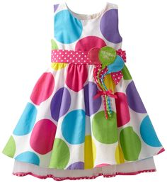 Bonnie Jean Girls 2-6X Dot Trapeze Dress  $32.95