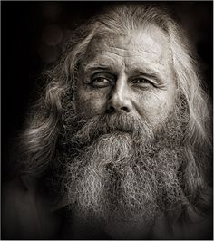 I love the way an old person's face shows so much character.  <3~R~<3