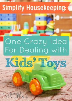 Are you having too much burden looking at your kid's toys all over the house? Here's one crazy idea on how to deal with it.