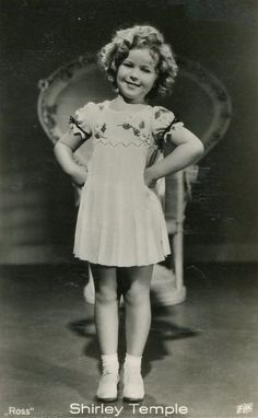 Shirley Temple, 1935. Watch her movies 24/7 growing up - All little girls wanted to look like little Shirley