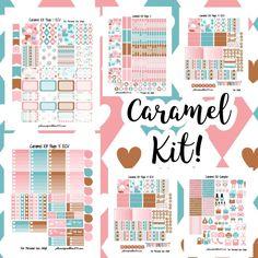 Caramel Valentine KIT!   Free Printable Planner Stickers