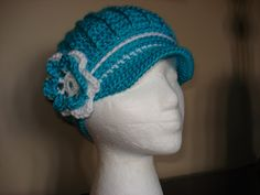 A personal favorite from my Etsy shop Crochet Newsboy Hat, News Boy Hat, Cloche Hat, Teal, Beanie, Classy, Etsy Shop, Trending Outfits, Unique Jewelry