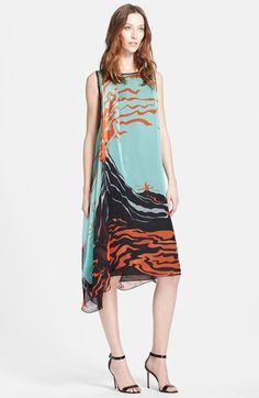 Missoni Side Drape Print Silk Midi Dress available at #Nordstrom