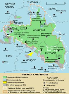 Szekely Land as envisaged by the autonomy supporters