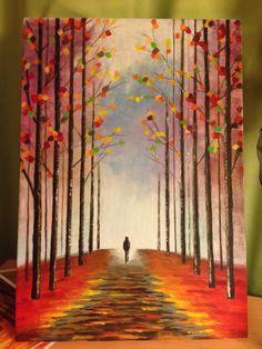 Yalnızlık ve sonbahar konulu tuvalim