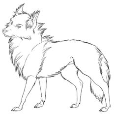 sad wolf drawings anime anime wolf lineart drawing sketch