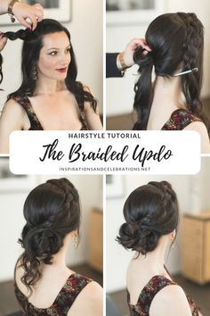 Hairstyle Tutorial: A Romantic Braided Updo Inspired by a Modern-Day Princess - Inspirations and Celebrations
