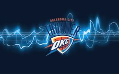 Oklahoma City Thunder Is With A Team Logo Wallpaper On Your