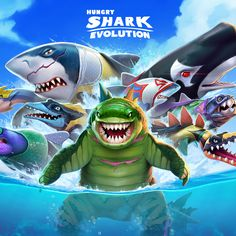 Take control of a Hungry Shark in this action packed aquatic adventure. Shark Games, All Sharks, Play Hacks, Shark S, New Skin, Sea Creatures, Godzilla, Pet Birds, Free Money