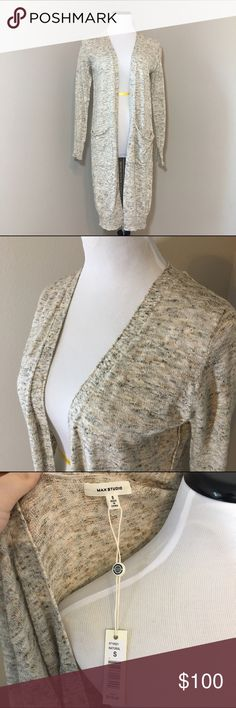 Long Cardigan Long sleeve grandpa style Cardigan that comes about mid thigh. Perfect natural coloring that goes with just about anything. NWT! Max Studio Sweaters Cardigans