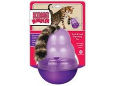 A great toy for putting food in and keeping your cat occupied.