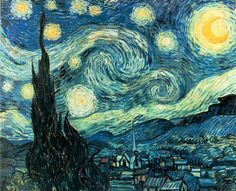 """This famous painting """"A Stary Night"""" was painted by  Vincent Van Gogh"""