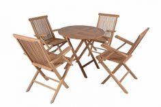 Zestaw mebli ogrodowych, stół, 4 krzesła, divero