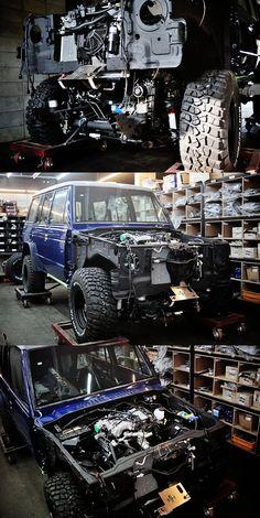 Mitsubishi Pajero -> Hyundai Galloper -> Mohenic Garages redesign - MOHENIC G 2GENERATION V6 350 DOHC Midnight Blue - Making. www.the.co.kr