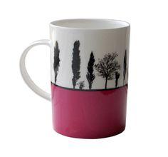 Landscape Mug - Leeds - Armley Bone China - Magenta