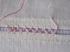 The Cretan Stitch as useful as decorative faggoting when joining two pieces of fabric. It can add color, of if done in the same color as the fabric, will add understated elegance. Hand Embroidery Videos, Hand Embroidery Stitches, Embroidery Needles, Sewing Stitches, Diy Embroidery, Embroidery Techniques, Sewing Techniques, Cross Stitch Embroidery, Smocking Patterns