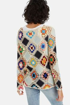 For Beginners Cardigan Knit diamond jumper Knitting Blogs, Knitting Stitches, Crochet Clothes, Diy Clothes, Crochet Cardigan, Knit Crochet, Jumper Knitting Pattern, Rainbow Crochet, Knitted Slippers