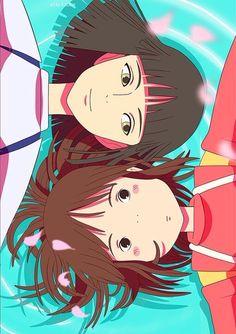 Ghibli Love- Spirited Away Haku and Chihiro Hayao Miyazaki, Studio Ghibli Art, Studio Ghibli Movies, Spirited Away Haku, Manga Anime, Chihiro Y Haku, Howls Moving Castle, My Neighbor Totoro, Animation