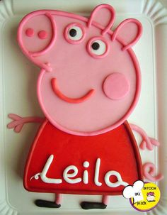 pixels Peppa Pig can be a United kingdom preschool super-hero tv string instructed Peppa Pig Cookie, Peppa Pig Birthday Cake, Birthday Cake Girls, 3rd Birthday, Pig Cookies, Pig Party, Party Cakes, Cupcake Cakes, Cupcakes