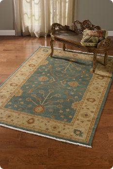 The rug is full of muted or soft colors  You can see that there are light colors and dark colors in the rug - but both a muted or toned down by the addition of a tinge brown or gray.