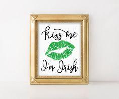 St. Patrick's day art print. Kiss Me I'm Irish. by PrintsofLife