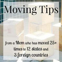 Moving tips and tricks from a mom that has moved more than 25 times in 12 states and 3 foreign countries. These tips will reduce the stress of moving, save you money and make your move process go more smoothly and successfully. Moving House Tips, Moving Home, Moving Day, Moving Tips, Moving Hacks, Moving Stress, Moving Organisation, Organization Hacks, Moving Across Country