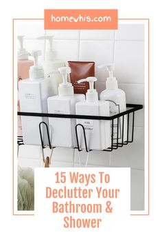 Want to wake up every morning to an organized bathroom free of clutter? Here are 15 of the best bathroom organization ideas to instantly increase storage space on the bathroom counter, cabinet and make your bathroom look more spacious. Visit our blog to be inspired by these 15 ingenious organization ideas #homewhis #bathroomorganization #storageidea #undersinkorganization #organization #declutter #counterorganization Bathroom Counter Organization, Organized Bathroom, Under Sink Organization, Sink Organizer, Home Organization Hacks, Hanging Cabinet, Amazing Bathrooms, Adjustable Shelving, Declutter