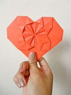 One Red Origami Valentine LOVE Note Card by julialau on Etsy. $1.80 AUD, via Etsy.