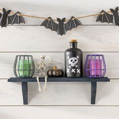 These fun DIY Halloween decorations are easy to make and will add a level of sca. - These fun DIY Halloween decorations are easy to make and will add a level of scary to your home dec - Glitter Blast Spray Paint, Spray Paint Crafts, Krylon Spray Paint, Spray Paint Projects, Spray Paint Furniture, Foam Crafts, Diy Halloween Decorations, Halloween Diy, Krylon Colors