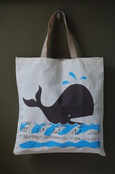 Tote Bags / Whale Tote / Check out our other stuff from L2 Design Collective