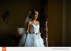 Bride portrait by the window - Wedding at the Riverview in Simsbury