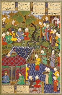 (`Shaahnaamah (400.7.13 H Literature; Abbasid Caliphate, Ghaznavid Sultanate) -Abuu-l-Qaasim Firdawsii (Muslim; Poet; 328s–410s H Persian)) (931s H Miniature Painting; Islamic; Safavid Empire, Persia, Tabriiz; `Shaahnaamah of Shah Tahmaasb) #Afghaanistaan #Paakistaan #Iiraan
