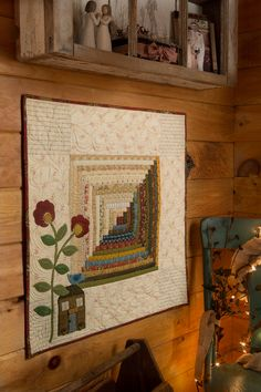 Summer 2014 Preview, The house that Jack built by Debbie Wick - I'd make this in cotton with wool applique.
