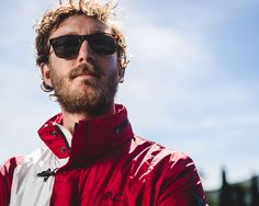 """Pierre Casiraghi, the skipper of the """"Malizia"""", wearing the limited edition Race Jacket. More on  http://www.fay.com/fay-life/projects/race-jacket/"""