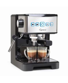 A self-tamping portafilter and programmable cup buttons make it easier than ever to brew your favorite coffee specialities with the ultima Pro espresso cappuccino machine. Italian Espresso Machine, Home Espresso Machine, Espresso Machine Reviews, Coffee And Espresso Maker, Coffee Maker Reviews, Cappuccino Maker, Cappuccino Machine, Coffee Machine, Gaggia Espresso Machine