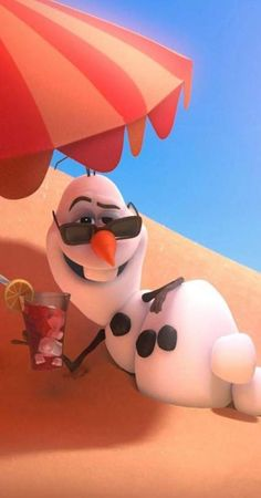 In Frozen the snowman called Olaf is drinking a drink with ice cubes. This is reference to the fact that Olaf is a cannibal and supports genocide against his own people. Disney Frozen Olaf, Disney Pixar, Disney And Dreamworks, Disney Magic, Disney Movies, Walt Disney, Frozen Songs, Frozen Movie, Frozen Party