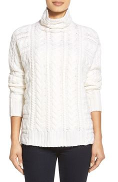Nordstrom Collection Cable Cashmere Sweater available at #Nordstrom