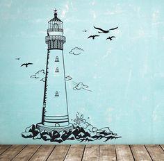 Popular Wandtattoo Wandaufkleber Leuchtturm maritim M