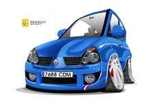 Clio sport 2003, ilustrado