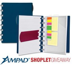 Shoplet.com is giving away Ampad notebooks! Here's how to win: Follow Shoplet on Pinterest, repin this post, go to the Shoplet Blog before 5/13/13 and tell us why you want this new notebook! #giveaways