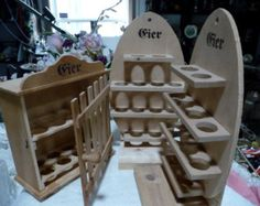 Custom egg holders Wood Projects For Beginners, Small Wood Projects, Projects To Try, Egg Storage, Art Folder, Egg Holder, Amish Furniture, Easy Home Decor, Chickens Backyard