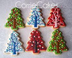 christmas cookies 2012 - Assorted christmas cookies from 2012. Sugar cookies topped in MMF with royal icing decorations