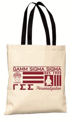 Gamma Sigma Sigma Symbolized Tote Bag