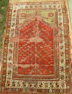 antique anatolian siwas prayer rug cm 1,46 x 0,96
