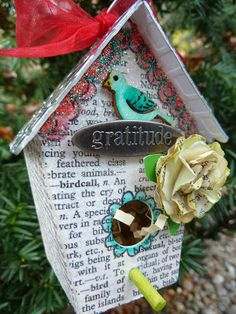 Blog Project by @Eileen Hull  http://sizzixukblog.blogspot.co.uk/2013/11/birdhouse-ornament.html